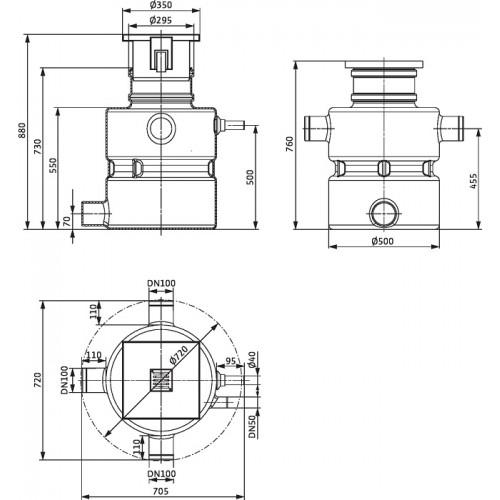 Напорная установка для грязной воды Wilo DRAINLIFT BOX 32/8